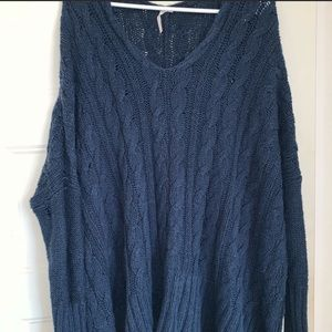 Free People Blue Knit Sweater( SOLD)